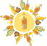 aromatherapy sortiment Royaltyfria Bilder