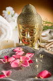 Aromatherapy and spa. Petals over water Aromatherapy and spa concept Stock Photography