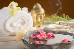 Aromatherapy and spa royalty free stock image