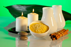 Aromatherapy and spa composition Royalty Free Stock Images