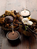 Aromatherapy spa concept stock image