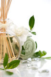 Aromatherapy spa set Royalty Free Stock Images