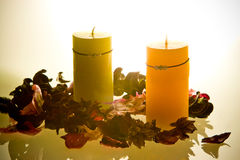 aromatherapy stearinljus Royaltyfri Bild
