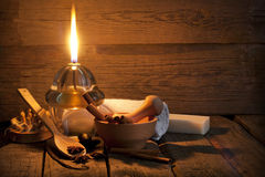 Aromatherapy tappningstilleben för Spa Royaltyfri Fotografi