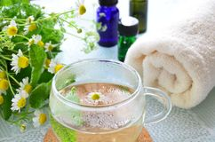 Aromatherapy treatment with tea Stock Image