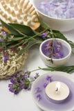 Aromatherapy und Massageset Lizenzfreies Stockbild