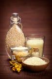 Aromatherapy vanilla minerals Royalty Free Stock Image