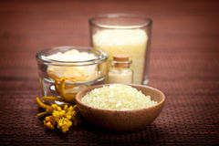 Aromatherapy vanilla minerals Royalty Free Stock Images