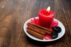 aromatherapy wellnes för stearinljusavkopplingbrunnsort Royaltyfria Bilder