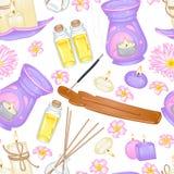 Aromatherapy wzór Ilustracja Wektor