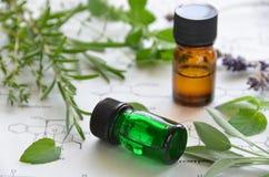 Aromatherapy y ciencia Imágenes de archivo libres de regalías