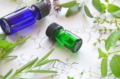 Aromatherapy y ciencia Foto de archivo