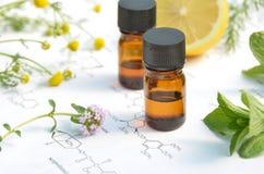 Aromatherapy y ciencia imagen de archivo libre de regalías