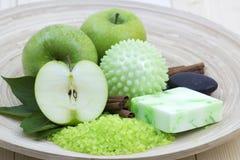 Aromatic apple bath Stock Image