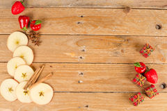 Aromatic apples background stock photo