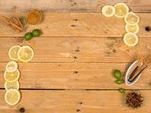 Aromatic baking ingredients background Royalty Free Stock Image