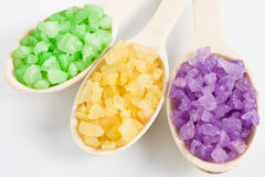 Aromatic bath salt Royalty Free Stock Image