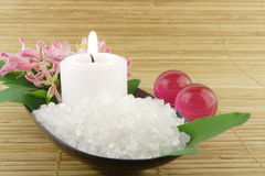 Aromatic bath salt Stock Photo