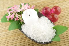 Aromatic bath salt Stock Image