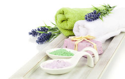 Aromatic bath salt for relaxation, Stock Image