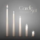 Aromatic Burning Candles Animation Set Stock Images