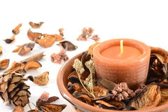 Aromatic candle royalty free stock images