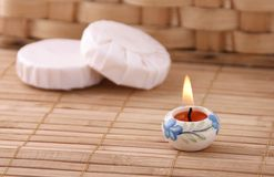 Aromatic candle Stock Image