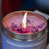 Aromatic candle with a lavender smell. At a London street market Royalty Free Stock Image