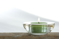 Aromatic candle on light background Stock Photo