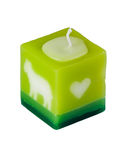 Aromatic candle on white table Royalty Free Stock Photos