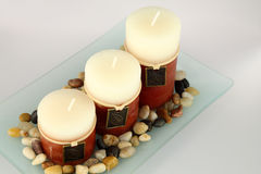 Aromatic candles Royalty Free Stock Photos