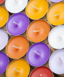 Aromatic candles. On bamboo background Stock Photography