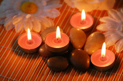 Aromatic candles Royalty Free Stock Images