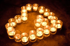 Aromatic candles in glass Stock Photos