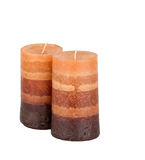 Aromatic candles isolated Stock Photo
