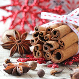 Aromatic Christmas spices Royalty Free Stock Photography
