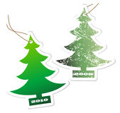 Aromatic Christmas trees. For the year 2009 and 2001 stock illustration