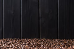 Aromatic coffee beans background, selective focus Royalty Free Stock Image
