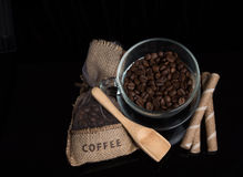 aromatic coffee beans Royalty Free Stock Photo