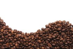 Aromatic coffee beans on white background Stock Image