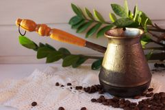 Aromatic coffee is a favorite drink royalty free stock photo