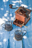 Aromatic coffee in garden Stock Images