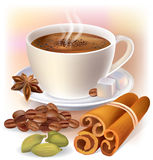 Aromatic coffee with spices Stock Photos