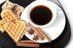 Aromatic cup of coffee Royalty Free Stock Photography