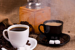 Aromatic delicious coffe Stock Image