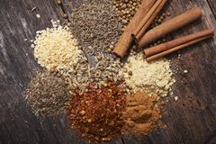 Aromatic Dry Spices Royalty Free Stock Image