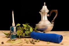 Aromatic eucalyptus on table royalty free stock photo