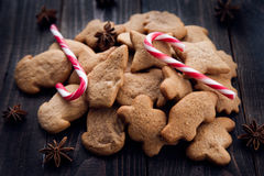 Aromatic and fresh gingerbread cookies Stock Photography