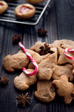 Aromatic and fresh gingerbread cookies Stock Images