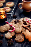 Aromatic and fresh gingerbread cookies Royalty Free Stock Photos
